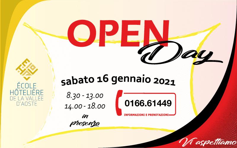 Sabato 16 gennaio 2021 – porte aperte in presenza: vi aspettiamo!